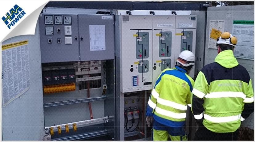 超级充电站的小型化配电房